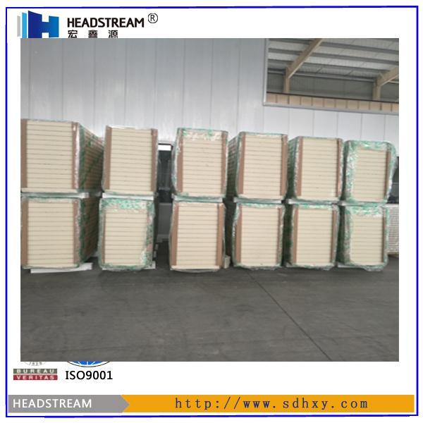 Sandwich Eps And Rock Wool Roll Forming Machine / Polyurethane ...