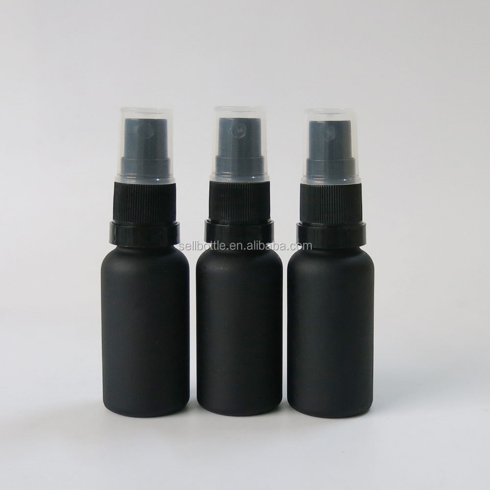 Essential Oil use Black frosted/matte 20ml glass eliquid bottle with fine <strong>spray</strong>