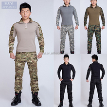 Men Outdoor Suit army new uniform loose colors Military Uniform Combat CS Set men long sleeve shirt pants navy military uniforms