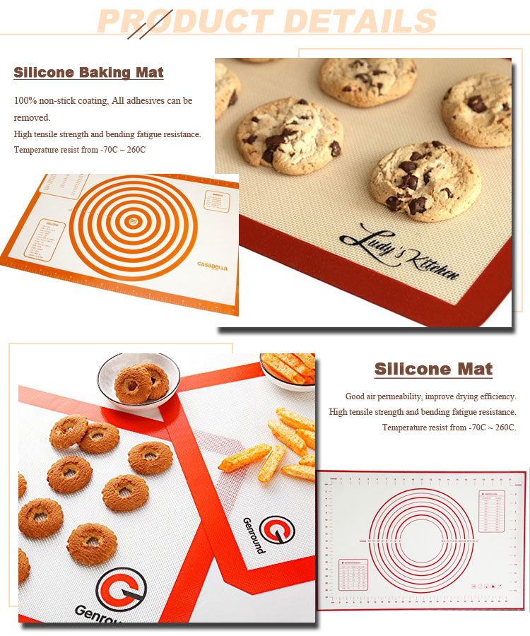 Best Selling Non Stick Making Mat High Temperature Silicone Baking Mat Manufacturer From China
