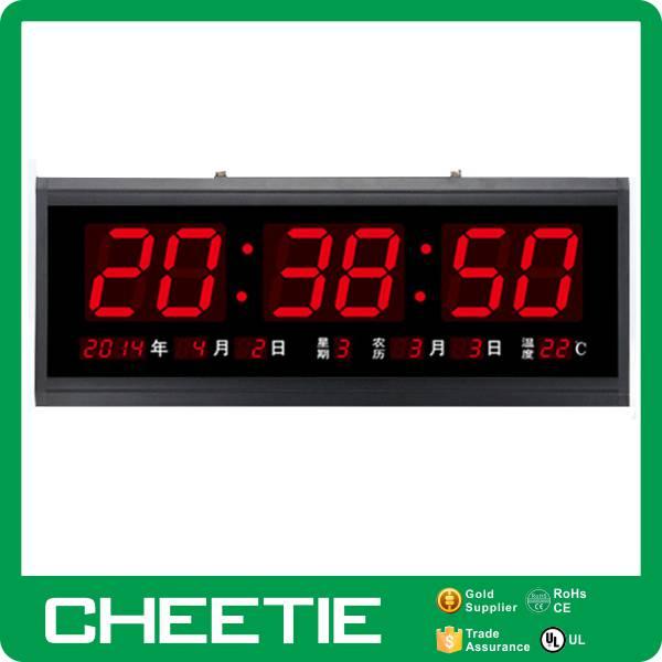 Digital Clock Table Standing Desk Electronic Calendar For Elderly ...