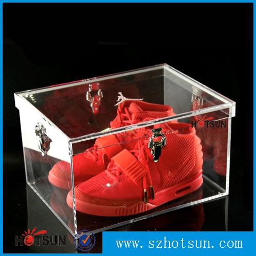 Plastic Shoe Box Wholesale Manufacturer Glass Shoe Display