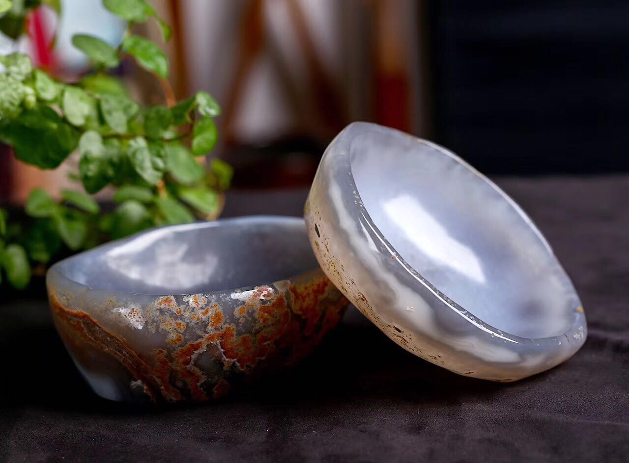 Natural agate crystal bowl quartz stone large crystal ashtray