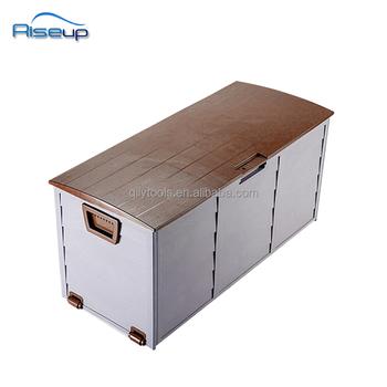 290L Plastic Outdoor Garden Storage Box/New Plastic Garden Outdoor Storage  Sheds Bin Deck Cushion