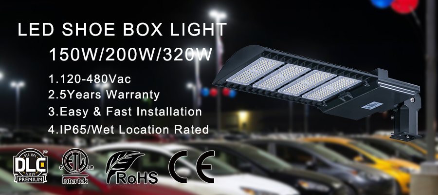 ETL listed outdoor high rebate area parking lot pole lighting led street light with photocell
