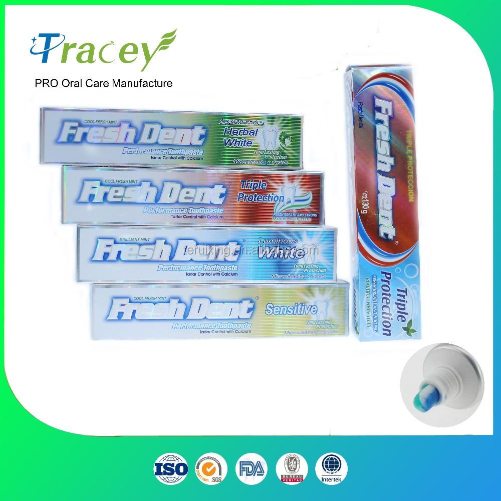 Oem Murah Pembuatan Private Label Merek Fluoride Pasta Gigi Pemutih