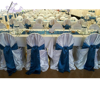 wholesale universal bag satin outdoor chair covers with sashes from China manufacturer