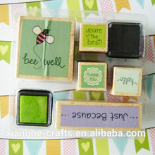 Wholesale wood stamp collection stamp set
