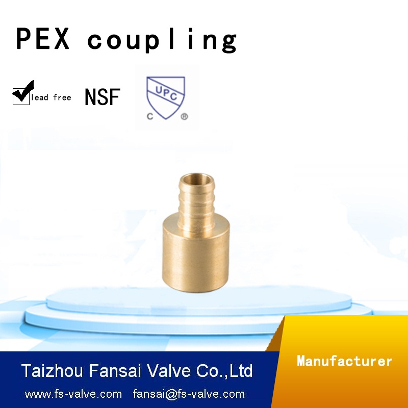 "lead free copper plumbing fitting cUPC forged 1/2""PET* C female sweat brass asapter coupling fitting"