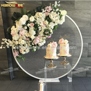 round iron white painting screens dividers for wedding banquet
