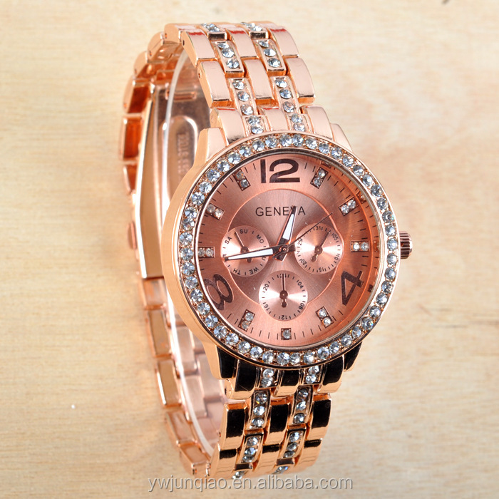 Price Whole Geneva Watches Foreign Trade The Men S Watch Rose Gold Diamond Studded Fashion Business