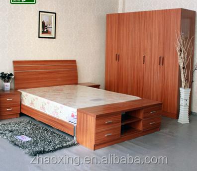 Muebles de dormitorio armario ropero de madera mdf for Conjunto dormitorio barato