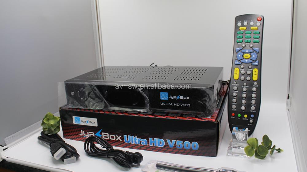 Wholesale satellite tv receicver jyazbox ultra hd v500 to USA free shipping better than jynxbox 5pcs/lot