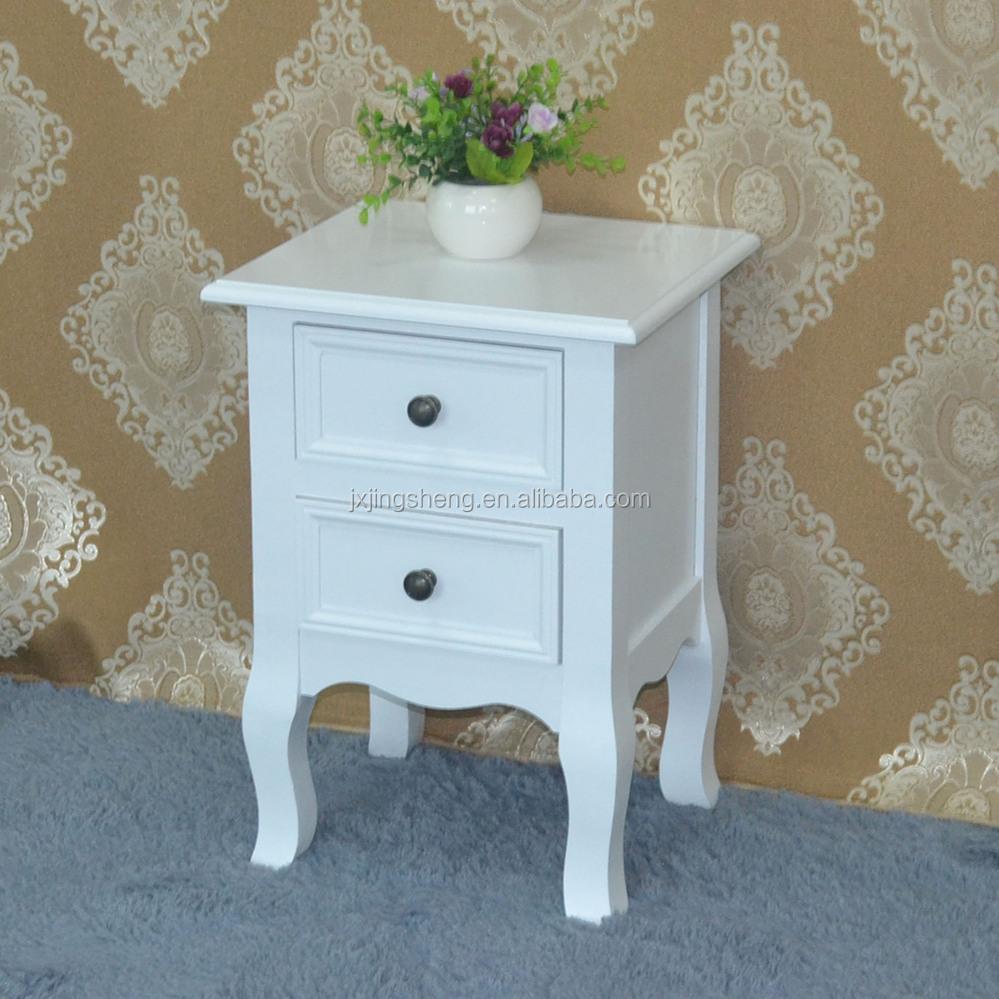 Shabby chic vintage witte lade borst nachtkastje hout antieke ...
