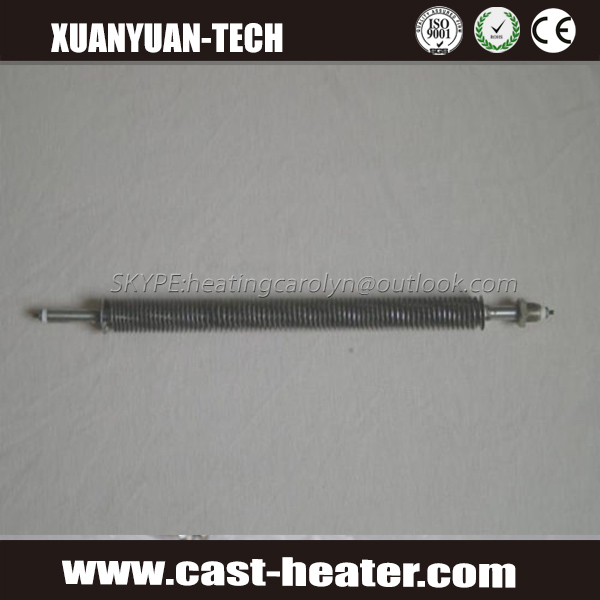 double ended cartridge heater with fin
