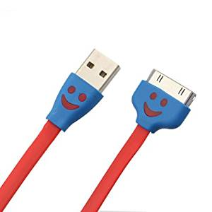 GD Smile Face USB Sync Data Charger Cable for iPhone 4 4S 3G iPad2 3