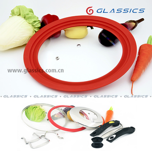 silicone glass lid tempered glass lid cooking pot lid handles and knobs for fry pan sauce pan pot casserole