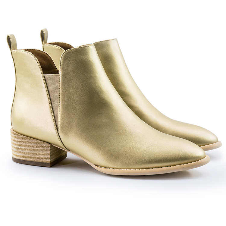 Fashion New Design Beautiful High Heel <strong>Boots</strong> Ladies Gold Ankle <strong>Boots</strong>