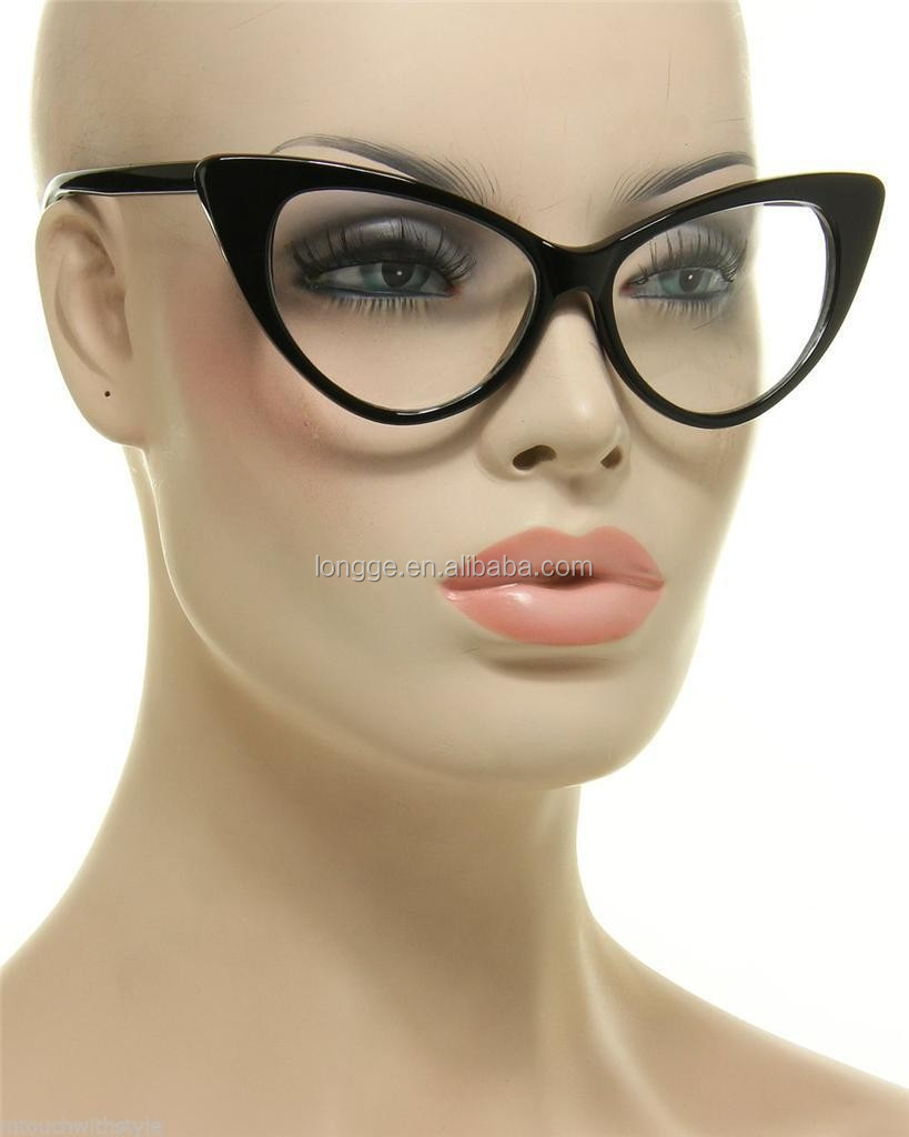 Vintage Style Retro Womens Fashion Cat Eye Mirrored Flat Lenses Sunglasses