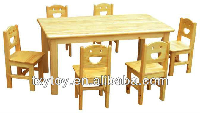 wood kids furniture,Newest wooden rectangle desks chairs LT-2146J