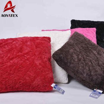 Fake Fur Custom Wholesale PV Fleece Latest Design Sofa Cushion Covers