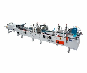 ZH-800G cardboard box forming machine / automatic paper box folding gluing machine