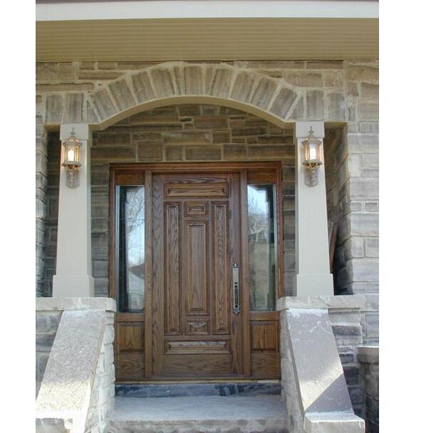 ext rieur de porte en bois de la porte de la maison. Black Bedroom Furniture Sets. Home Design Ideas
