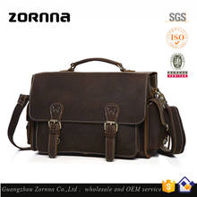 High quality fashion waterproof vintage shoulder leather camera bag for travel