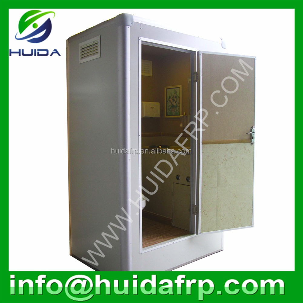 China Huida best quality eastern and western style public fiberglass prefab outdoor portable toilet