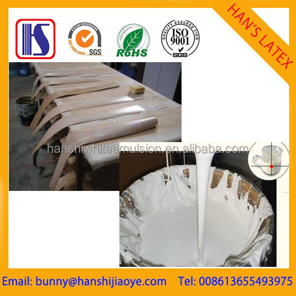 Han's Fast curing Non-toxic water-based Hands white Emulsion veneer glue/white adhesive for Decorative paper