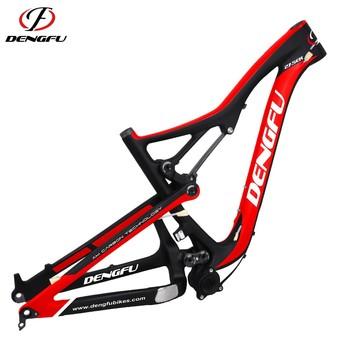 6600c7fe3cf DengFu all Mountain bike carbon MTB frameset 650B Chinese carbon frame 27.5  full suspension