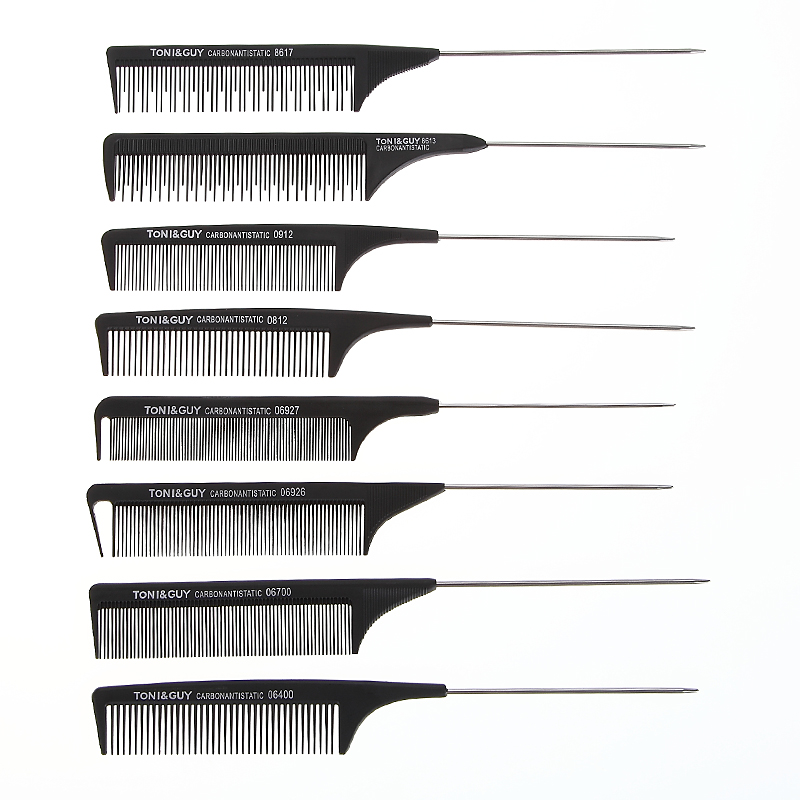 Free sample Black <strong>comb</strong> hair cutting carbon fiber anti-static push - shear hand <strong>comb</strong>