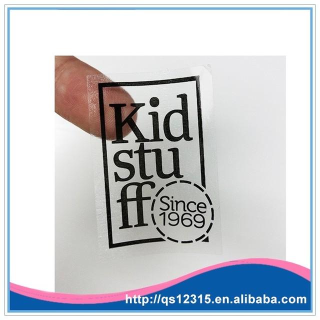 Custom pvc waterproof printing plastic transparent sticker for packaging