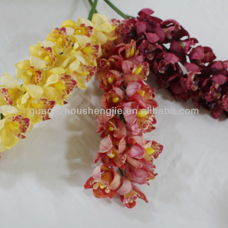 Hot sale High Simulation Artificial flower 21-head Species of orchidbeautiful used decoration