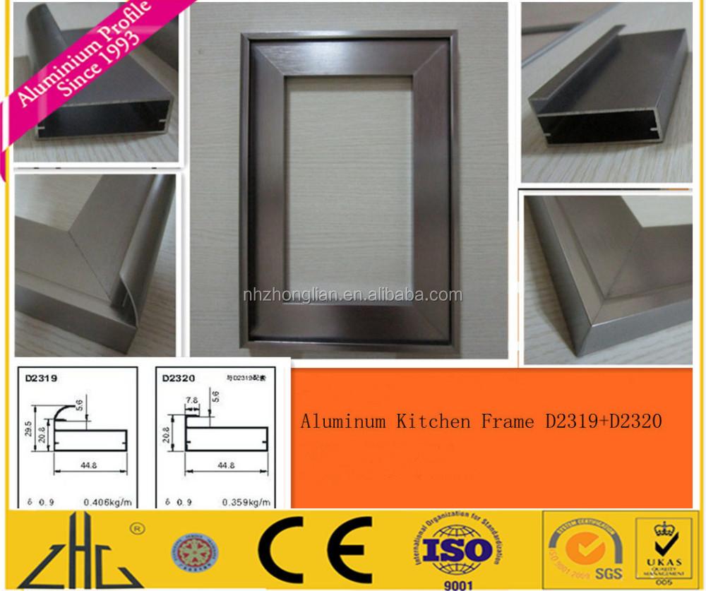 Perfil de aluminio para gabinete de cocina marco for Ventanas de aluminio para cocina
