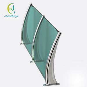 CC Best price green PC Material polycarbonate door awning for rain shelter