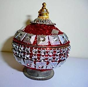 Artcollectibles India Rare Decorative Trinket Box Jewelry Sindoor Kumkum Box for Christmas Diwali