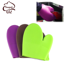 Non-slip Silicone Oven Gloves, Grilling Gloves, Heat Resistant Gloves BBQ Kitchen Silicone Oven Mitts For Kitchen Use