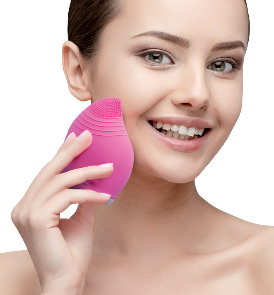 Beauty Personal Care High Frequency Face Machine Facial Massager Waterproof Electric Sonic Silicone Facial Cleansing Brush