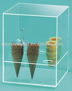 eye-catching acrylic food container or acrylic ice cream display case
