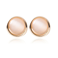 Top-quality fashion korean jewelry 2019 lovely gifts gold opal stud earrings for women