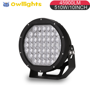 4x4 Auto Parts High Power 10inch 510W LED Off Road Light 12V 24V LED Driving Light for 4WD Offroad ATV SUV Car