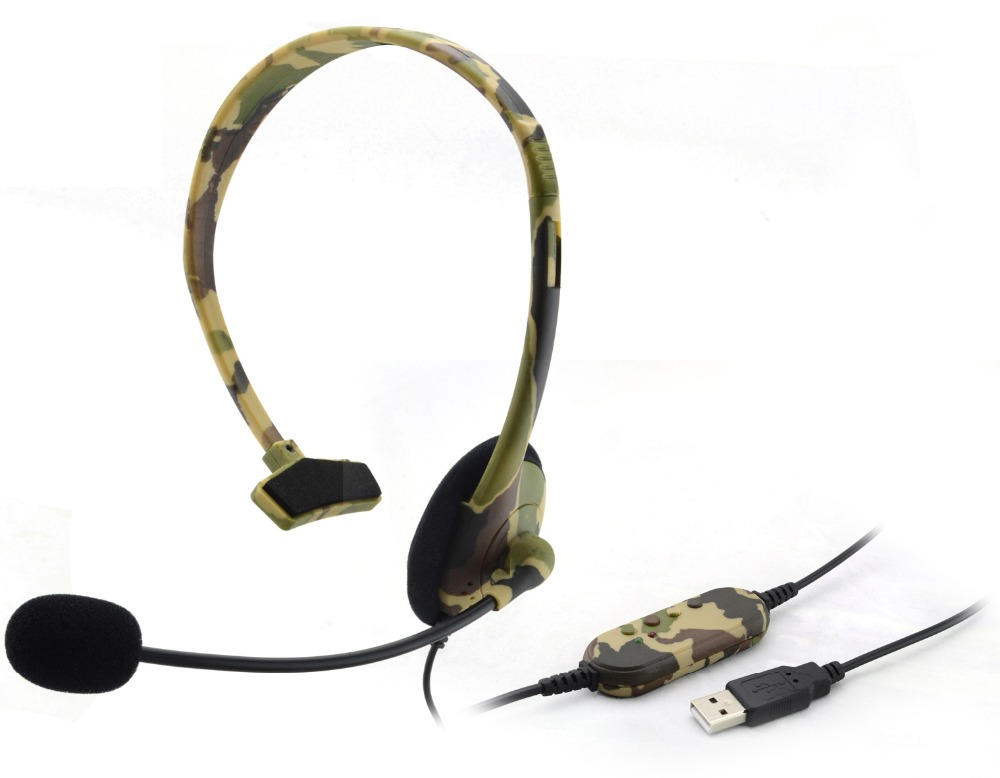 Light single side Gaming Headset Earphone with Mic for PC,PS3 and Volume Control headphone