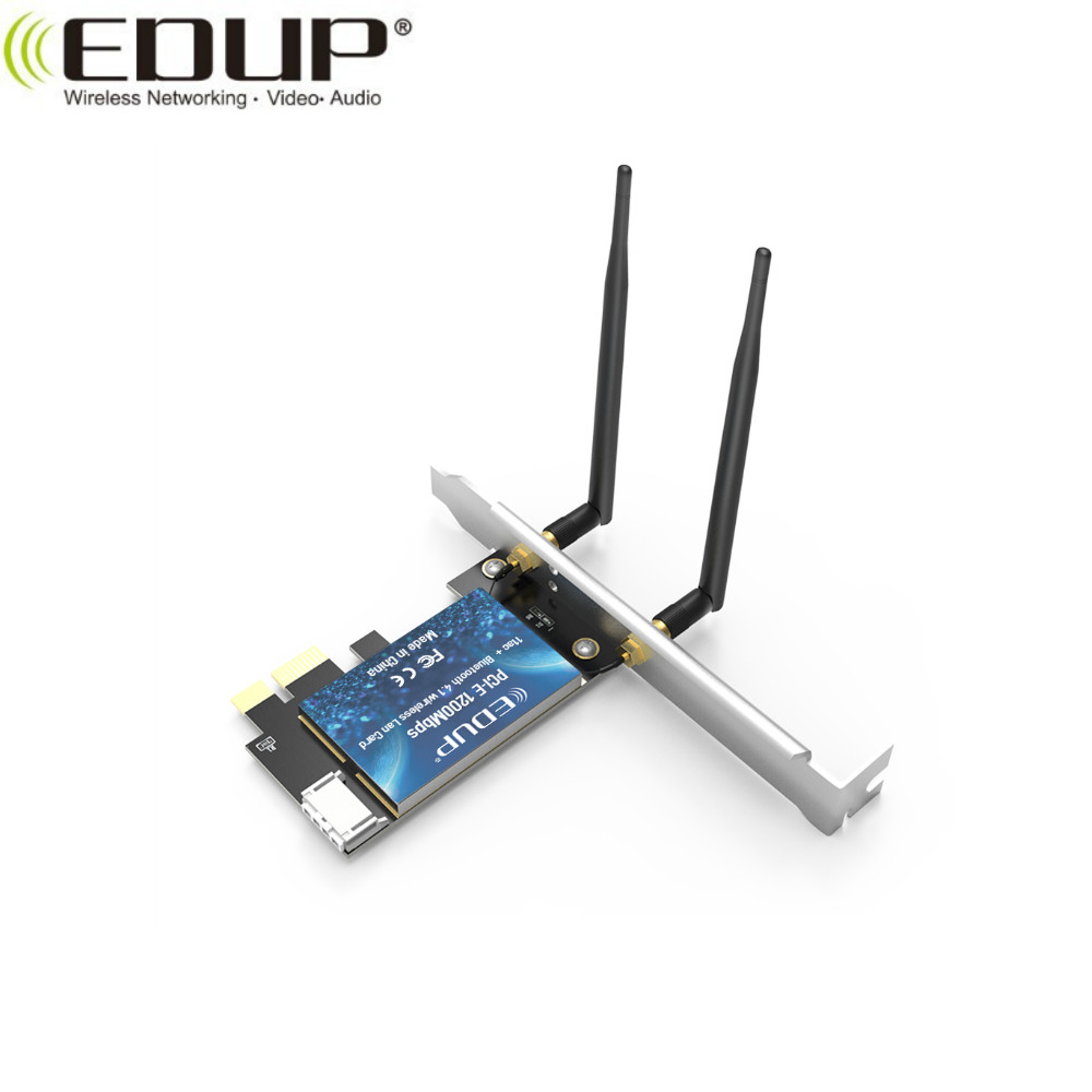 EDUP EP-9631 2030Mbps 802.11AC pci-e x16 riser card with Blue-tooth Function