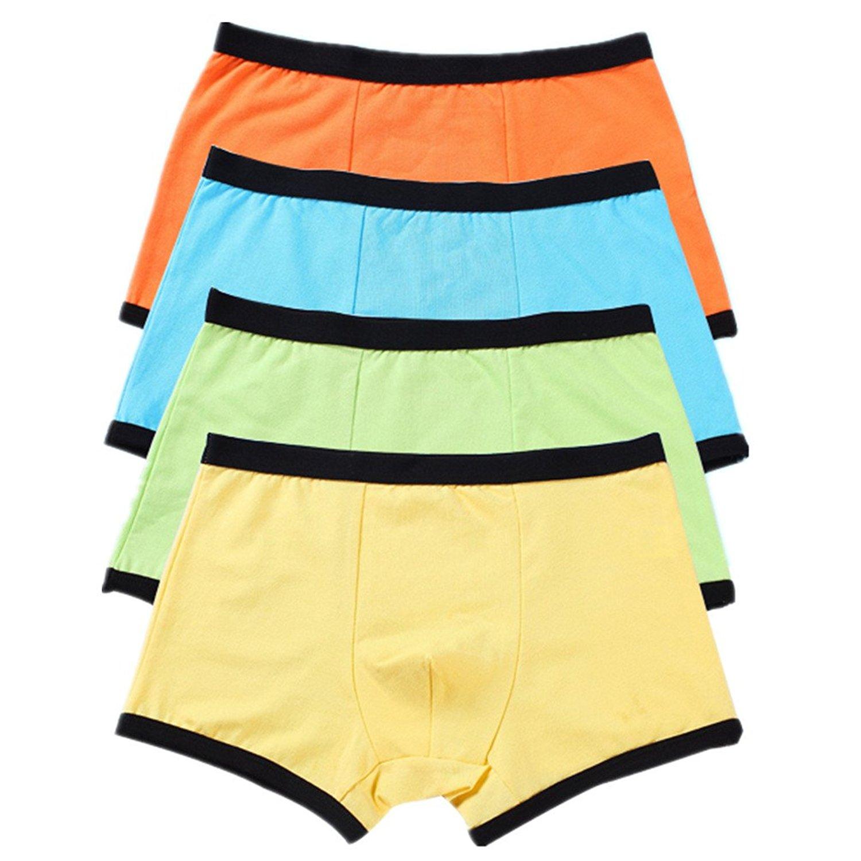 0d544189ac8a Get Quotations · Boys Boxers Cotton Underwear Kids Briefs Sport Boxer  Briefs 4 Pack