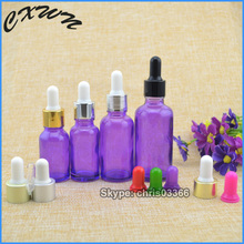 wholesale purple essential oil glass dropper bottle 15ml 20ml 30ml olive oil ejuice childproof dropper bottle