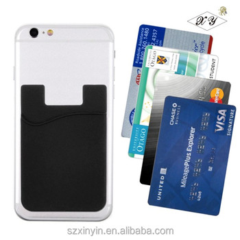 Oem Logo Cellphone Credit Pocket Business Card Holder