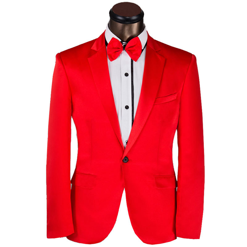 2015 New Arrival Men Suit Elegant Big Red Design Mens Slim Fit Prom Tuxedo Suits With Pants Groom Party Wedding Suits For Men