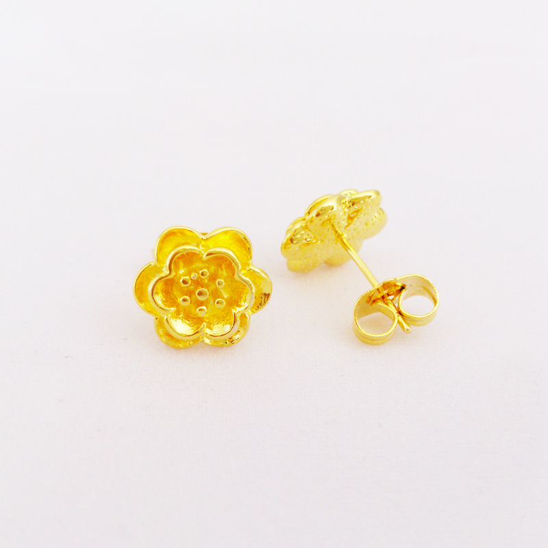 Get Quotations Whole 2017 New Arrival 24k Gp Earrings Flower Stud Gold For Women Hot
