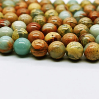 Wholesale A Grade Natural Smooth Gemstone Serpentine Loose Snake Skin Jasper Beads